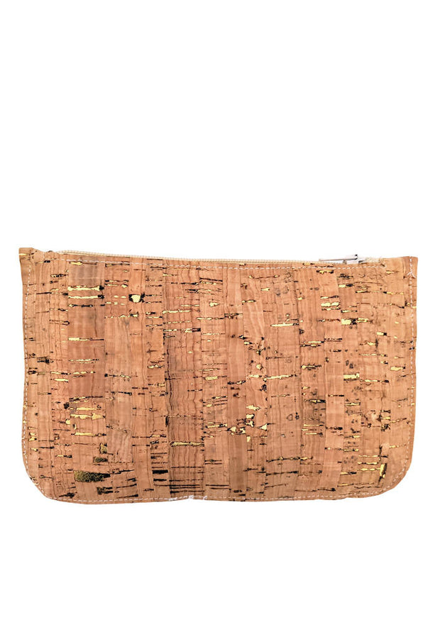 Cork zippered purse