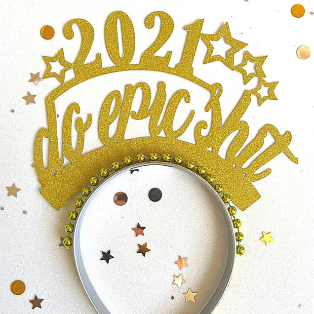 2021 New Years party crown/ Holiday headband
