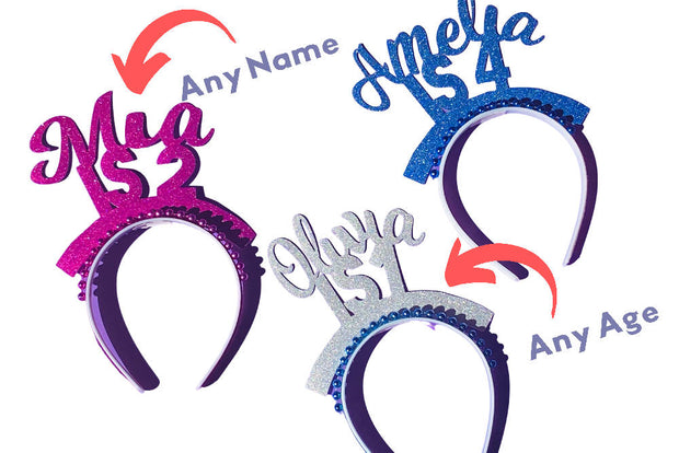 Custom party headband/ any age any name/ party crown