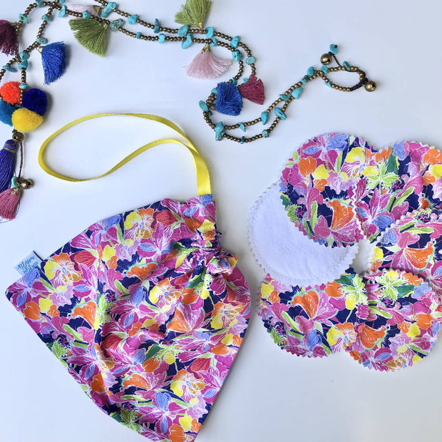 Summer Fun Reusable Cleansing Pads & Wash Bag Sets