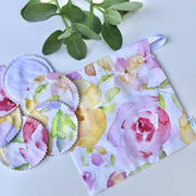 Watercolour Summer Reusable Cleansing Pads & Wash Bag Sets