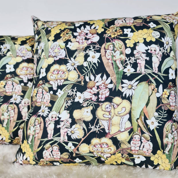 May Gibbs Cushion Cover (18inch) in green