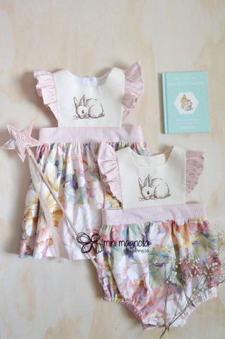 Bunny Rabbit Pinafore Dress