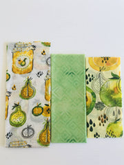 Large 3 Pack Beeswax Wraps