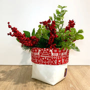 Christmas Collared Pots