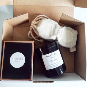 Scented Soy Candle Gift Pack / Box (2 Tumblers, 2 Tins)