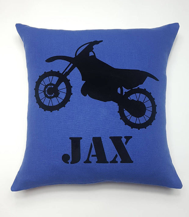 Personalised Dirt Bike Cushion.