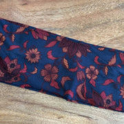 Gorgeous blue floral jersey headband-made in WA