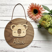 Personalised 3D koala plaque