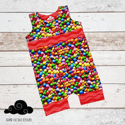 Size 0 Shortalls - Rainbow Choc Candy