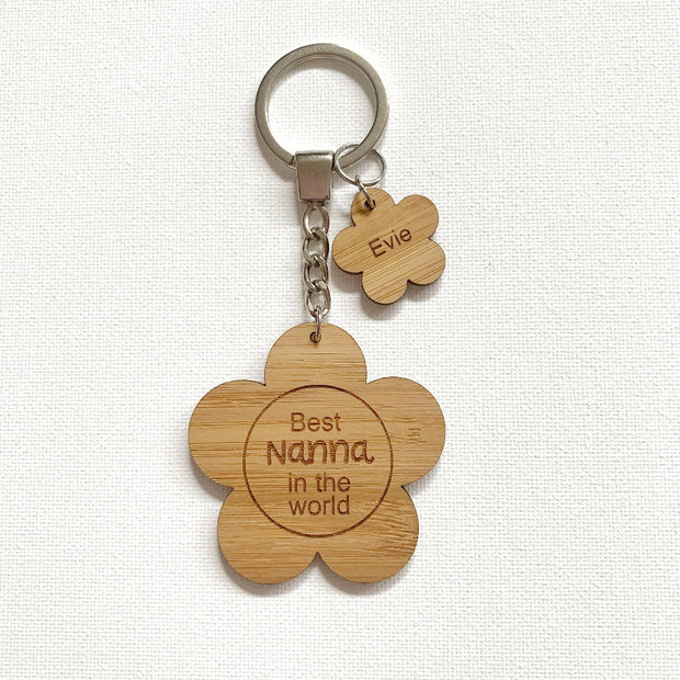 Bamboo flower keyring / Mother's Day gift