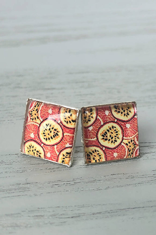 Passionate for Passionfruit Square Studs