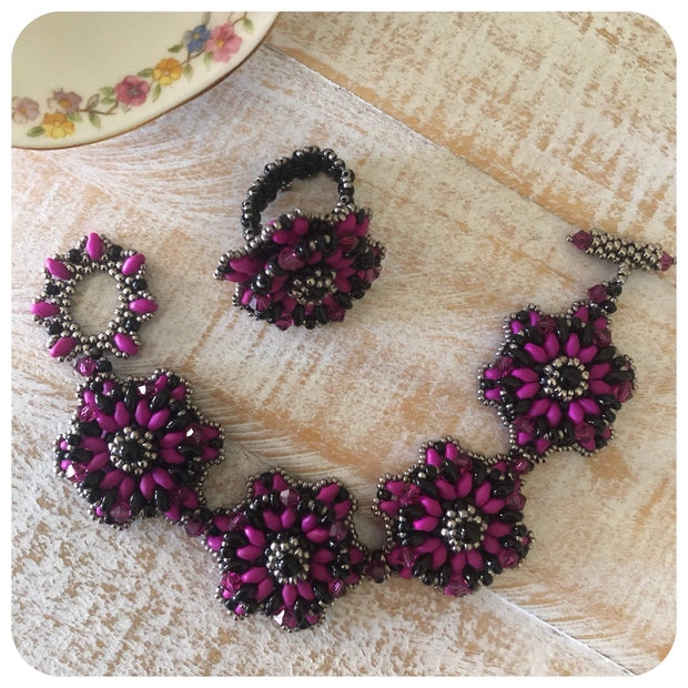 Bracelet Beading Tutorial | Beaded Bracelet Patterns | DiY Beading PDF Digital Download | Cosmos Discs Women's Jewelry Training