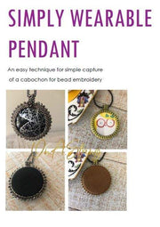 Bead Embroidery Tutorial | Easy Learn to Bead Technique | Peyote Stitch | Bead Weaving Training Digital Download | Learn to Make a Pendant
