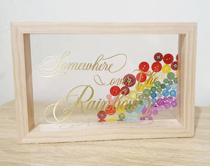 A4 Transparent Rainbow Money Box