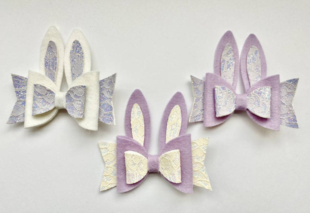 Easter Bunny Bow Hair Accessories