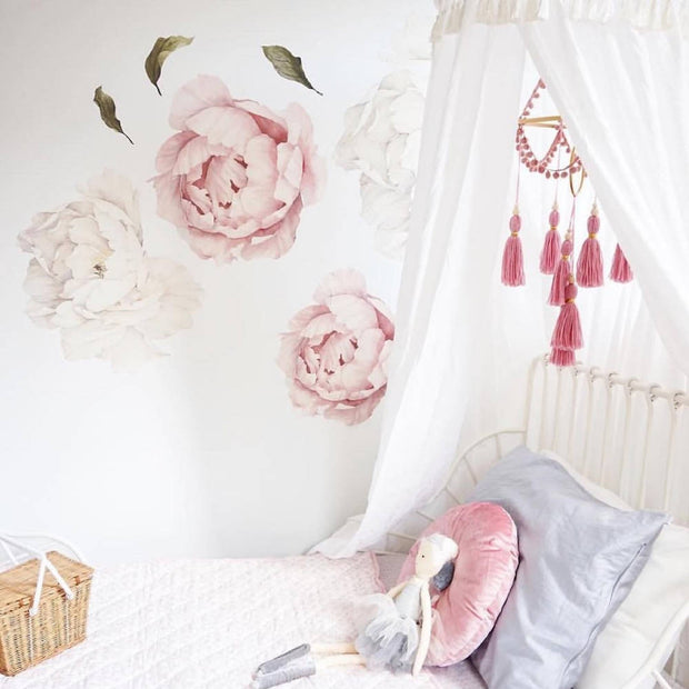dusty pink tassel nursery mobile by Little Cloud Lane