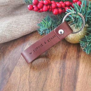 Personalised Daddy Leather Keyring