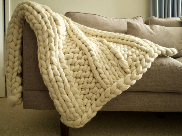 The Woolly Mammoth Chunky knit Blanket