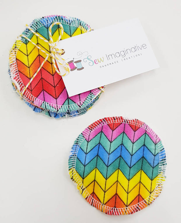 Rainbow chevron Make-up removal wipes