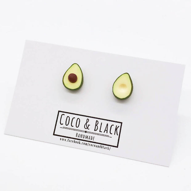 Avocados Studs Breakfast Food Miniature jewllery