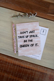 Queen A6 Affirmation Postcard