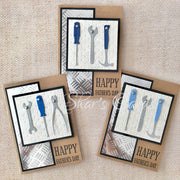 Tools theme Fathers Day card