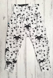 Yoga Harem Pants, Unisex Pants for baby and toddler, Foxes