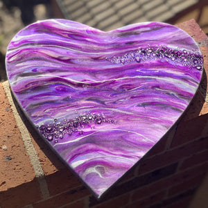 Resin Heart Wall Hanging