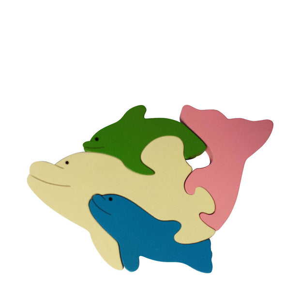 Dolphin Wooden Animal Puzzle
