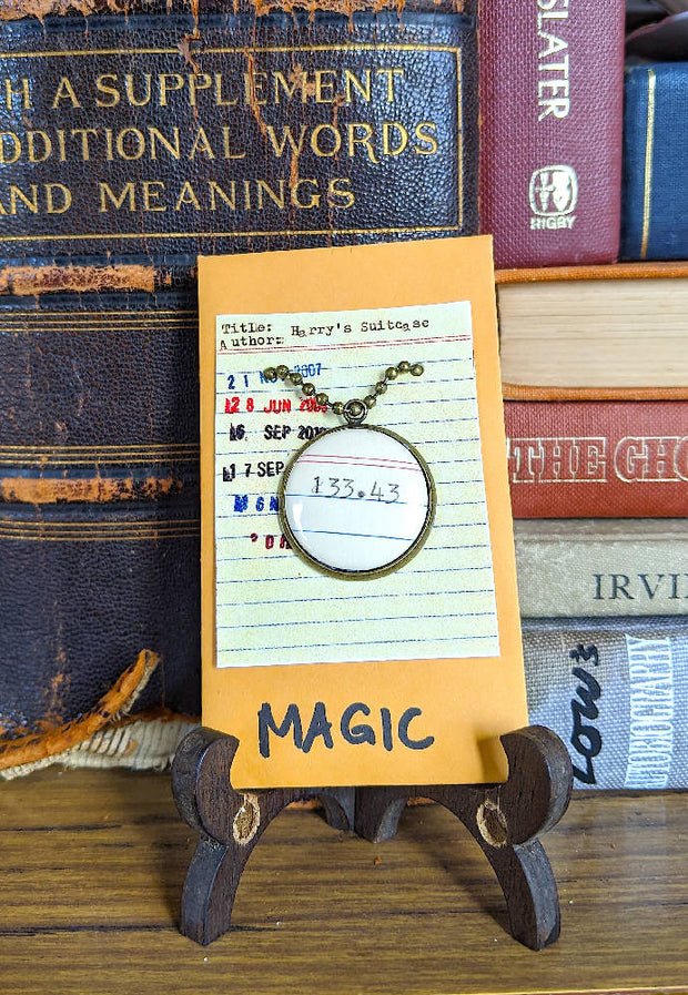MAGIC (133.43) Dewey Decimal System Necklace