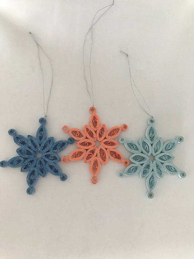 Christmas snowflakes (set of 3) - small, made to order