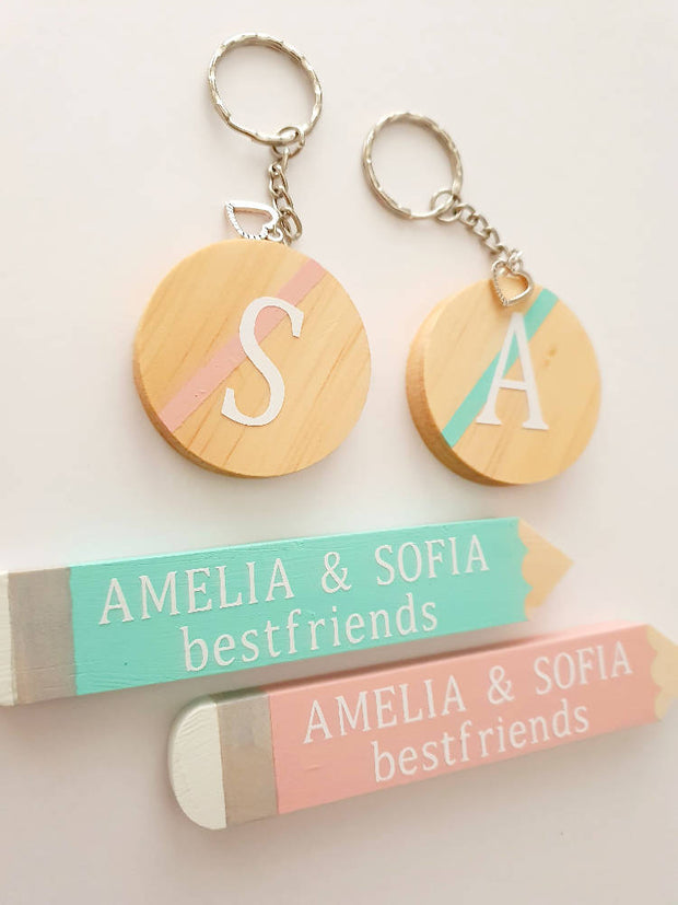 Wooden Keyring Personalised