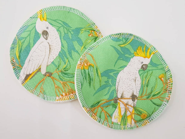 Cockatoos WATER RESISTANT Breastfeeding/nursing pads