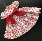 LIMITED RELEASE - Hand smocked Christmas dresses (red or white print)
