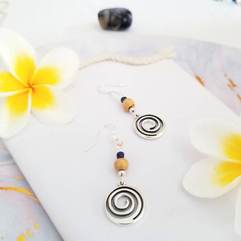 Lapis Swirl Earrings