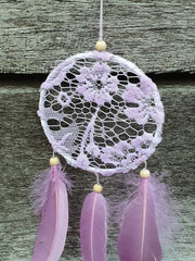 SALE - Purple and Pink Lace dream catchers