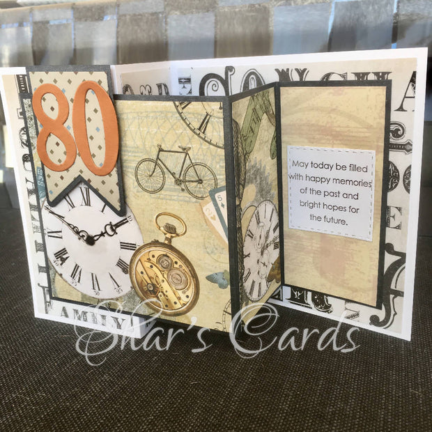 Decade Birthday card for 70 or 80