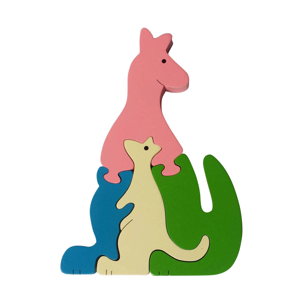 Kangaroo Wooden Animal Puzzle