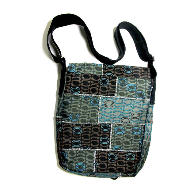 The Wall - Ocean Messenger up-cycled bag - SALE