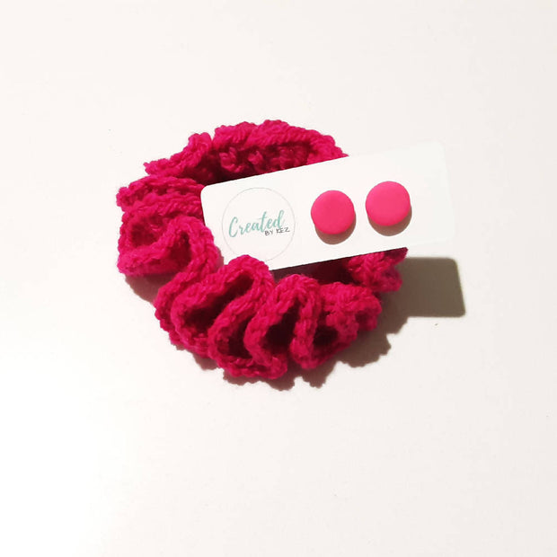 Scrunchie & Stud Set