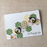 'Praying for you' beehive card