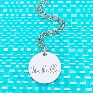 Mum & Grandparent Gifts - Personalised Dainty Silver Name Necklace