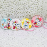 Deluxe Hair Tie ~ Lemon Bunny
