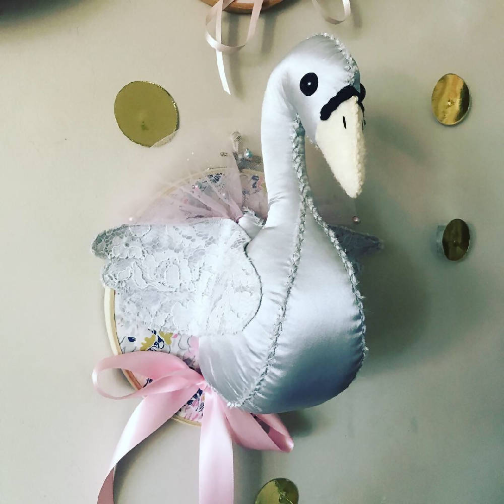 Swan Faux Taxidermy