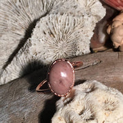 Pink Opal Crystal Rings