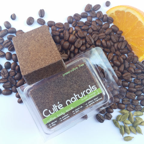 Natural Coffee Body Scrub Bar - Preservative Free