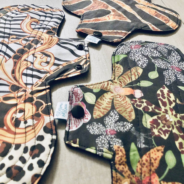 WILD Gold Reusable Cloth Pads and Liners Trial Pack & Starter Bundles