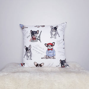 "French Bulldog Print 18"" Cushion"