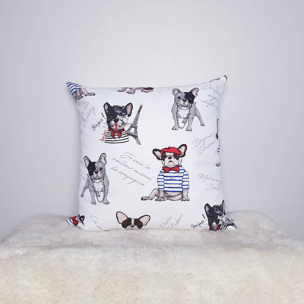 "French Bulldog Print 18"" Cushion available in Girl or Boy Version."